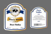 Black Bison vodka labels